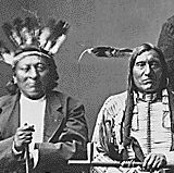 Dakota delegation. Identified: left to right, Little Wound, Red Cloud, American Horse, and Red Shirt.