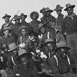 Photograph of a Group of African-American Soldiers at Camp Wikoff, New York