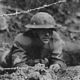 In Firing Position in Second-line Trench