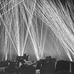 Ack-Ack fire during an air raid on Algiers, by the Nazis