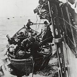 Photograph of Passengers Rescued from the French Liner Sontay