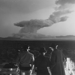 [Operation Cue] - A few minutes after detonation the atomic blast in Operation Cue looked like this
