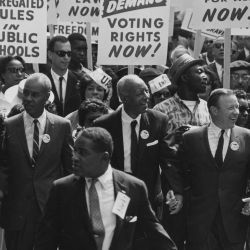 Civil Rights March on Washington, D.C. [Leaders marching from the Washington Monument to the Lincoln Memorial]