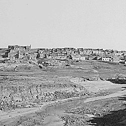 A general view of the Laguna Pueblo, New Mexico