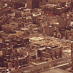 Aerial view of Lower Bronx