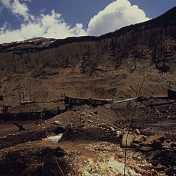 Acid Drainage from Mine