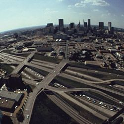 Photograph of the Central Expressway in Dallas, Texas