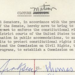 Cloture Motion for the Civil Rights Act of 1964