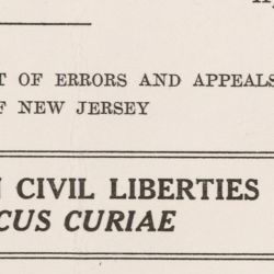 Amicus Curiae Brief from the American Civil Liberties Union to the Supreme Court Regarding Everson v. Board of Education of Ewing Township, New Jersey