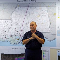 [Hurricane Katrina] Baton Rouge, LA October 4, 2005 - USCG Vice Admiral Thad Allen, FEMA Principle Federal Official for the Gulf Coast, gave a situation report to members of Congress at the Joint Fiel