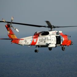 [Hurricane Katrina] Gulf Coast of Mississippi, September 30, 2005 -- A US Coast Guard helicopter continues to carry out missions and assignments after hurricane Katrina swept through the area. The coa