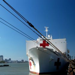 [Hurricane Katrina/Hurricane Rita] New Orleans, October 6, 2005 - The USNS Comfort, a 1,000 bed hospital ship, is now docked in the city and is providing critical medical care to those affected by Hur
