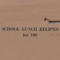 School Lunch Recipes for 100