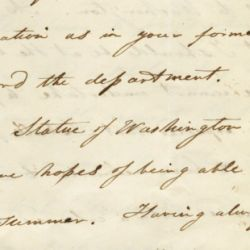 Letter from Horatio Greenough to John Forsyth