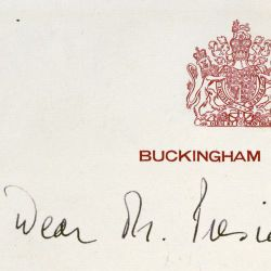 Queen Elizabeth's Letter to President Dwight D. Eisenhower