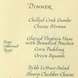 Formal Menu for Dinner for Chancellor Helmut Schmidt of West Germany July 13, 1977