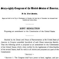 House Joint Resolution Proposing an Amendment to the Constitution Respecting Child Labor