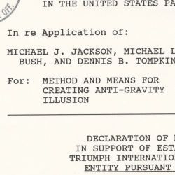 Declaration of Michael J. Jackson in Support of Establishing Status of Triumph International, Inc as a Small Entity