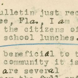Letter from Mrs. Morton Livingston to Senator Claude Pepper Regarding the School Lunch Program