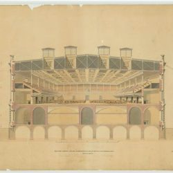Cross Section of the House of Representatives Chamber by William Strickland