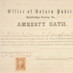 Amnesty Oath of Robert E. Lee
