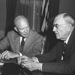Photograph of Dwight D. Eisenhower and John Foster Dulles