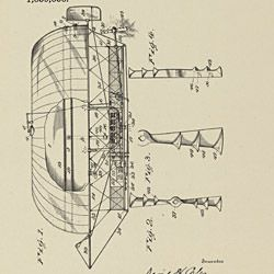 Patent Drawing for a Flying Machine