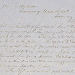 Letter from Colonel Edward Hallowell to the Governor of Massachusetts