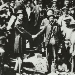 Photograph of Golden Spike Ceremony at Promontory, Utah