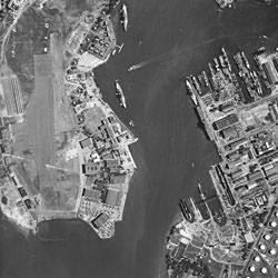 Aerial Photograph of Pearl Harbor, Hawaii