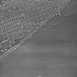 Aerial Photograph of Galveston, Texas