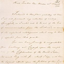 Letter From George Washington to the President of the Confederation Congress