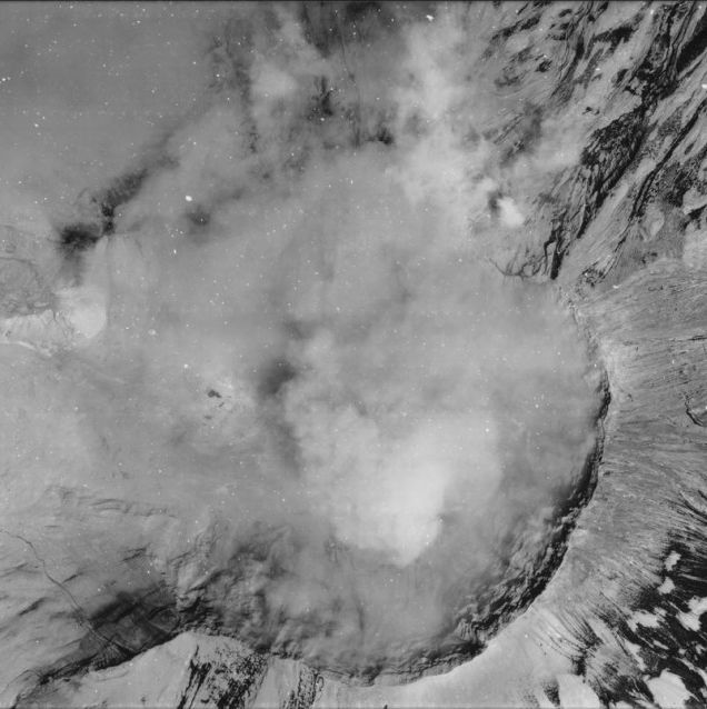 Aerial Photograph of Mount Saint Helens, Washington