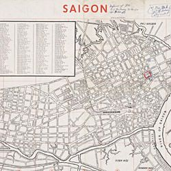 Map of Saigon Defense of the U.S. Embassy