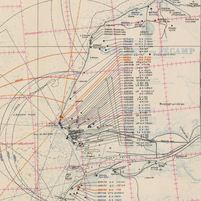 Chart of D-Day Beaches