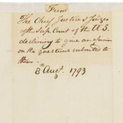 Letter from Chief Justice John Jay to President George Washington