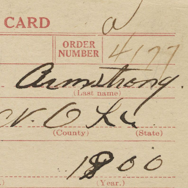 World War I Draft Registration Card for Louis Armstrong