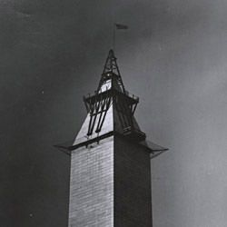 Photograph of the Placement of the Washington Monument