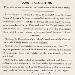 Joint Resolution Proposing the Twenty-First Amendment