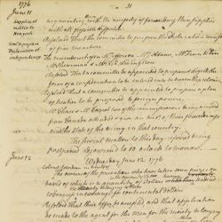 Appointment of Benjamin Franklin, Thomas Jefferson and John Adams to Draft Declaration of Independence