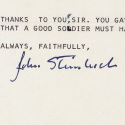 Letter from John Steinbeck to President Lyndon Johnson