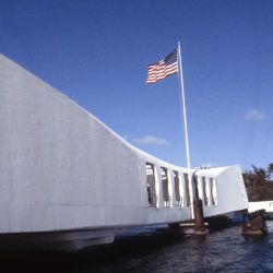 A view of the USS ARIZONA Memorial