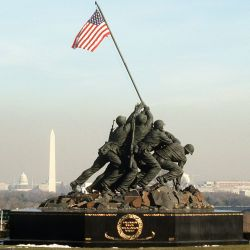A view of the Marine Corps Memorial