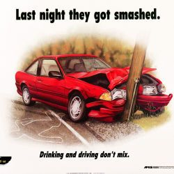 American Forces Information Service Poster about Drinking and Driving