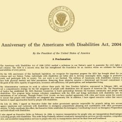Anniversary of the Americans with Disabilities Act