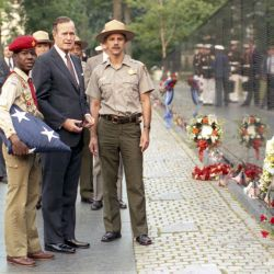 President Bush Visits the Vietnam Veterans Memorial