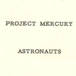 Biographies of Project Mercury Astronauts
