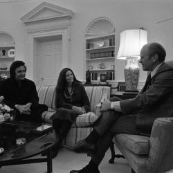 Country and Western Singers Johnny Cash and June Carter Cash Visit President Gerald R. Ford at the White House,