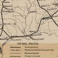 Post Office Department Map of Continental U.S. Air Mail Routes