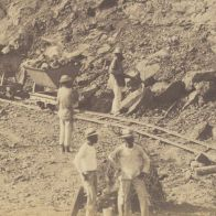 Workers on the Interior of the Cut for the French Construction of the Panama Canal